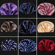 Newest style Flower Hankerchief Scarves Vintage Linen Paisley Hankies Men's Pocket Square Handkerchiefs 23*23cm
