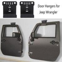 KEMiMOTO 2 Hanger For Jeep CJ YJ TJ LJ JK JKU And The All New JL Wrangler Door Hanger Storage Rack Bracket Set Built For Jeep