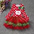 Xmas Girls Long Sleeve Dress for Girl Kids Christmas Red Princess Tutu Dress Children Bow Dot Cake Dress Toddler Dresses Costume