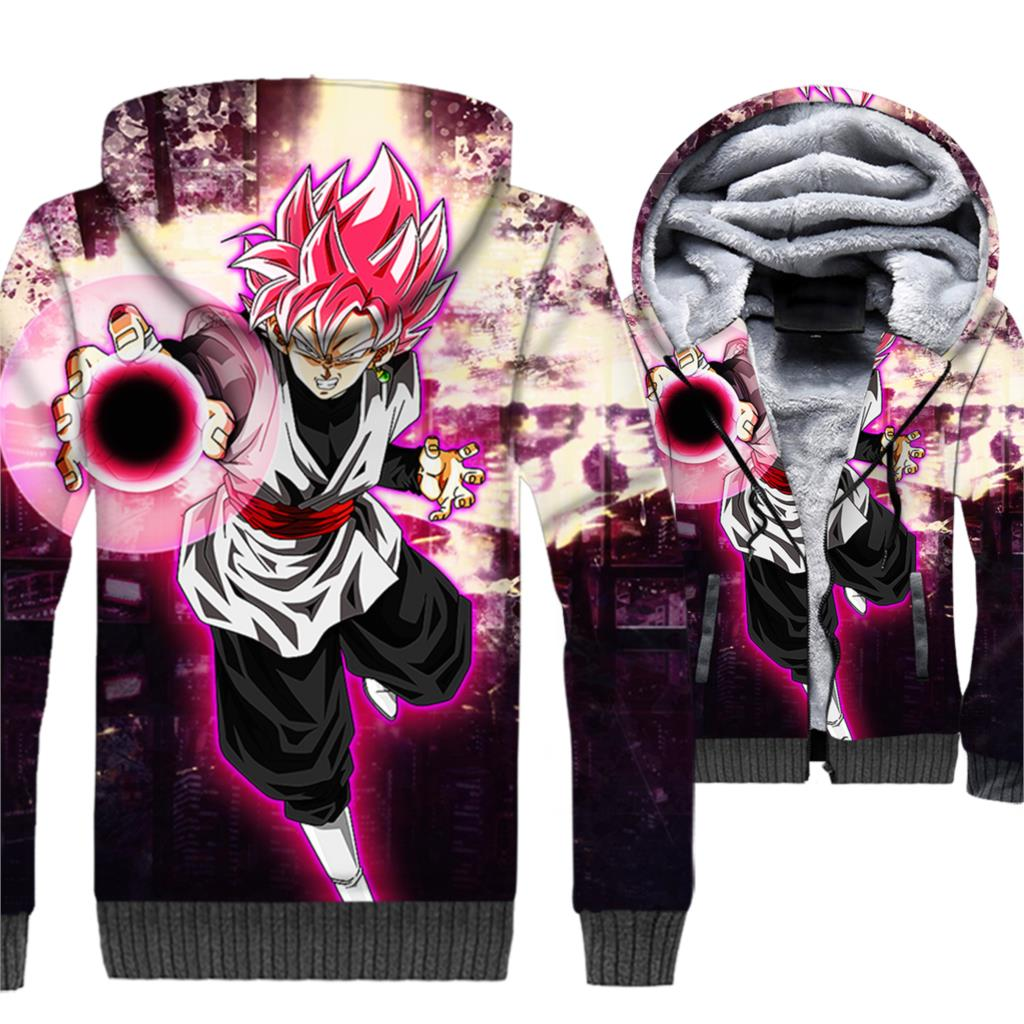 Vegeta Cool Jackets Men Dragon Ball 3D Hoodies Anime Super Saiyan Sweatshirts Harajuku Coat Winter Thick Fleece Zipper Jacket
