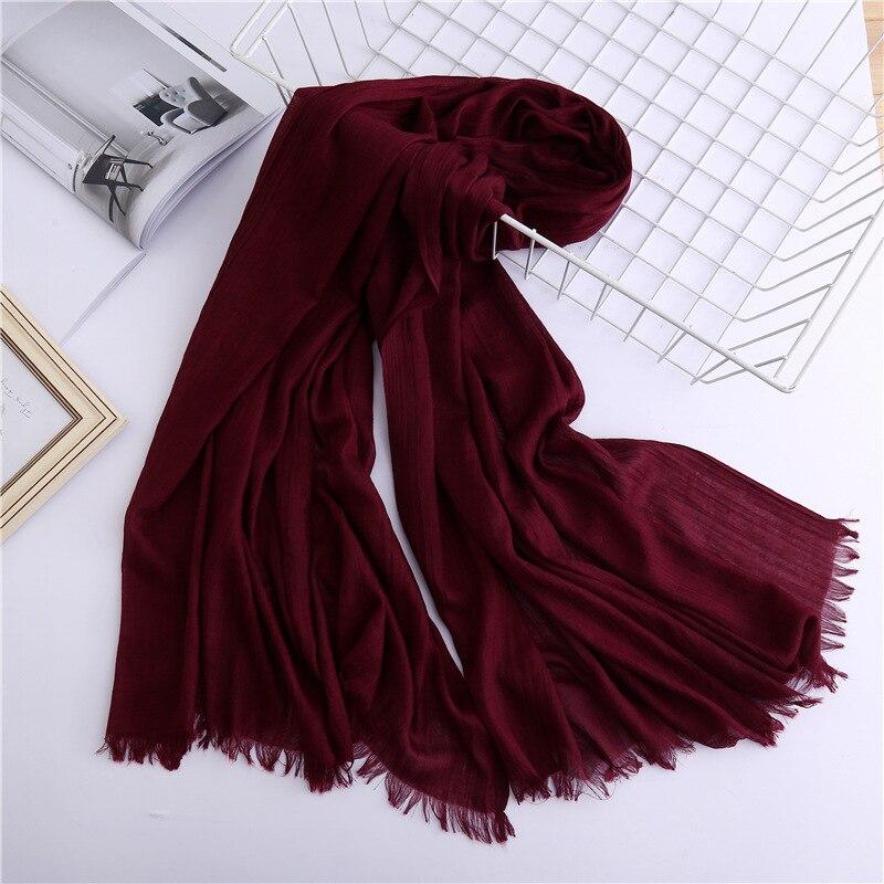 Women Scarf Shawls Wraps Hijab Stoles Pashmina-Head Spring Female Vintage Winter Cotton