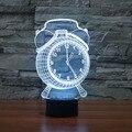 Будильник Лампы 3D Визуальный СВЕТОДИОДНЫЙ Свет Ночи для Детей Сенсорный кнопка USB Настольная Lampara, Кроме Того, Свет Ребенка Спать Лампы Дома декор