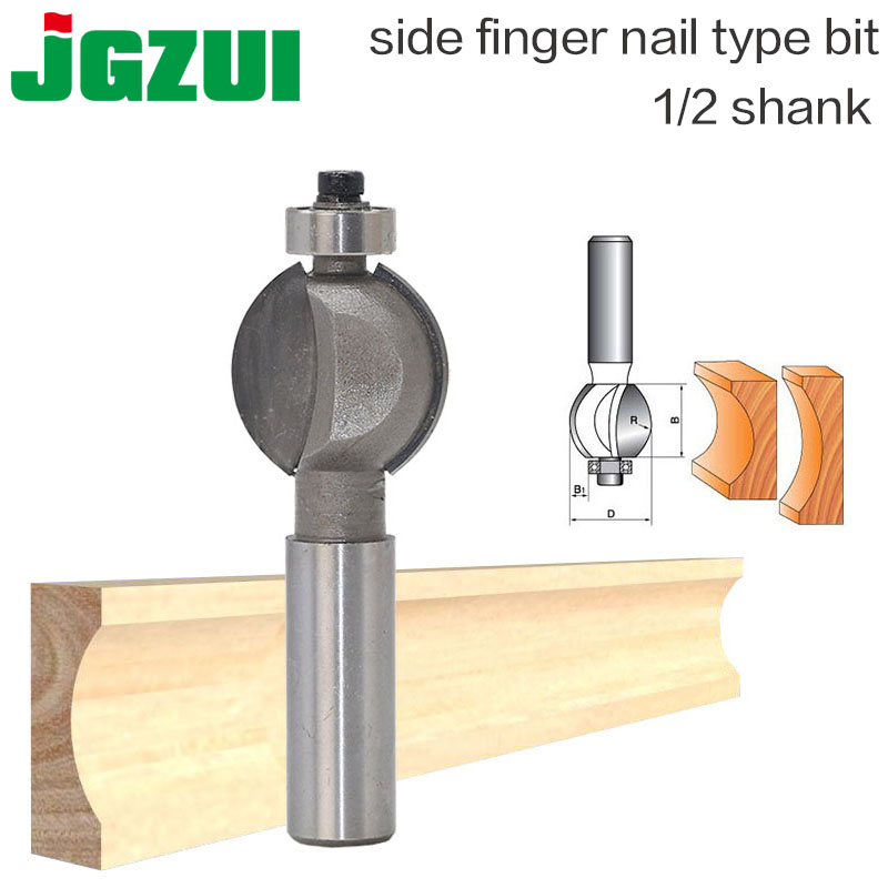 1pcs Side Finger Nail Type Bit Router Bit Arch Type Woodworking Tungsten Carbide Router Bit - 1/2*1/4 - 1/2 Shank 1 2 2 6 woodworking router bit arden tungsten carbide cnc cutter tct straight bit tideway 3137