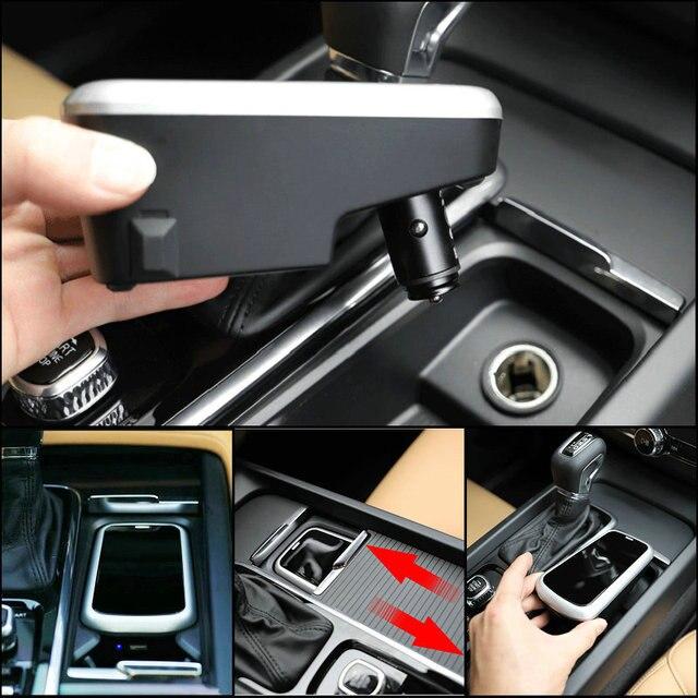 Araba kablosuz şarj cihazı volvo XC90 YENI XC60 S90 V90 C60 V60 2018 2019 Özel cep telefonu şarj plakası araba aksesuarları
