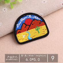 DOUBLEHEE Size 6CM*5CM Scenery Patch Embroidered Patches For Clothing Iron On Close Shoes Bags Badges Embroidery