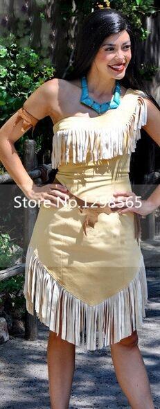 Pocahontas Matoaka costumes Indians princess Matoaka halloween Costume Dress lady sex dress Custom made any size available