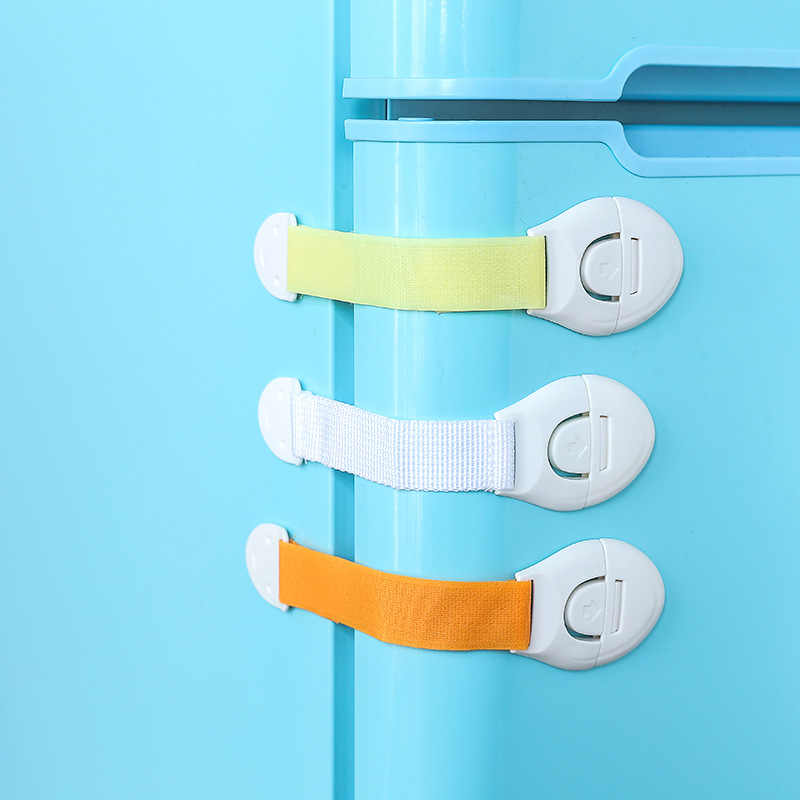 Infant Baby Protection  Drawer Door Cabinet Cupboard Toilet Safety Locks Baby Kids Safety Care Plastic Locks Straps