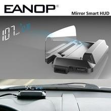 EANOP Mirror HUD Head Up display Auto HUD OBD2 elm327 Car Speed Projector Speedometer KMH KPM Voltage Alarm