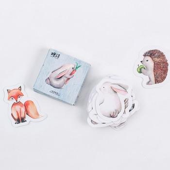 45pcs/box Cute Forest Animals sticker scrapbooking stickers decorative DIY craft photo albums