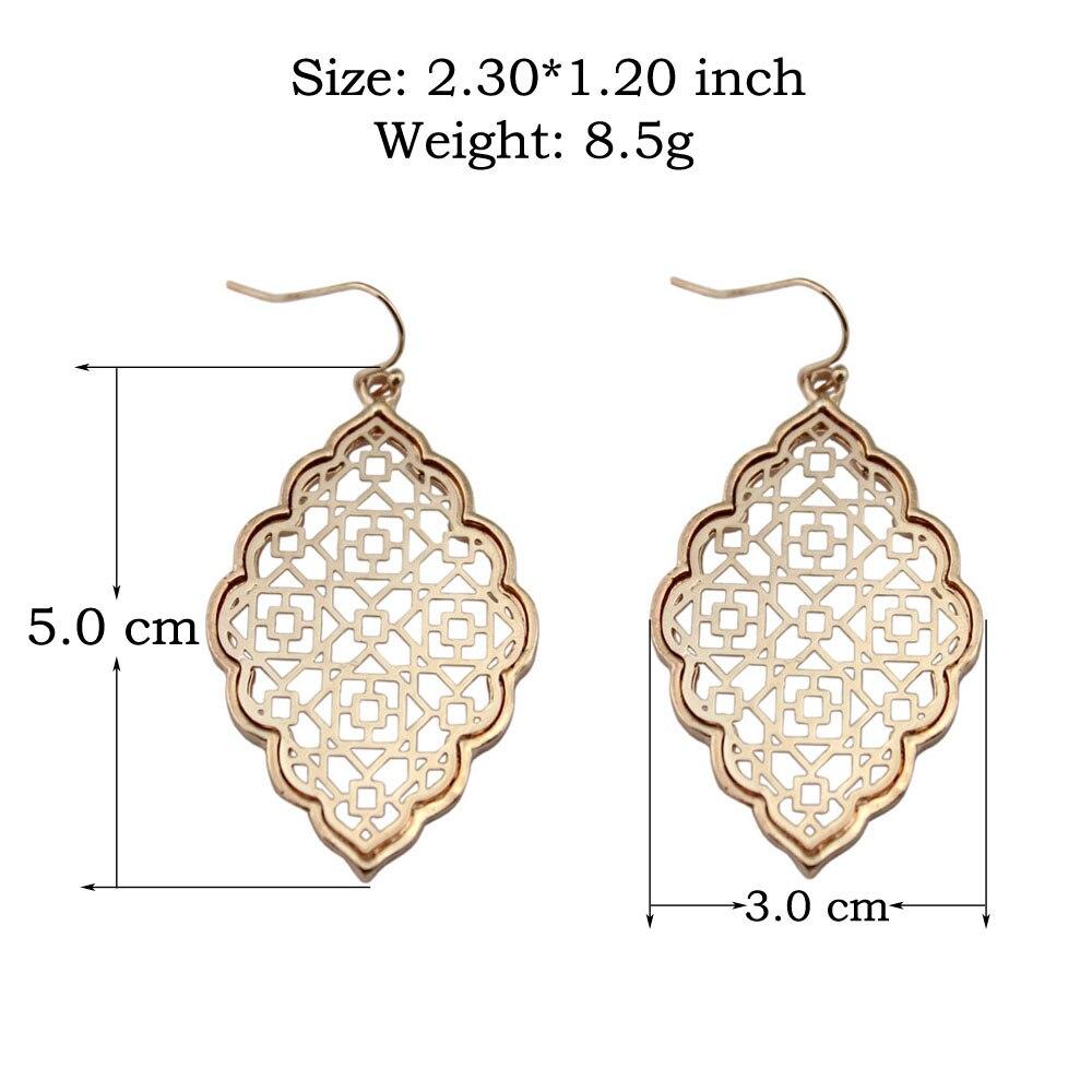 Μόδα μεγάλο χρυσό filigree δήλωση - Κοσμήματα μόδας - Φωτογραφία 2