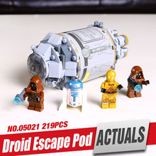 LEPIN 05021 Robot Escape Capsule Star War Micro Fighters Children Gift Minifigure Building BlocksToyForBoyWith LegOE 75136