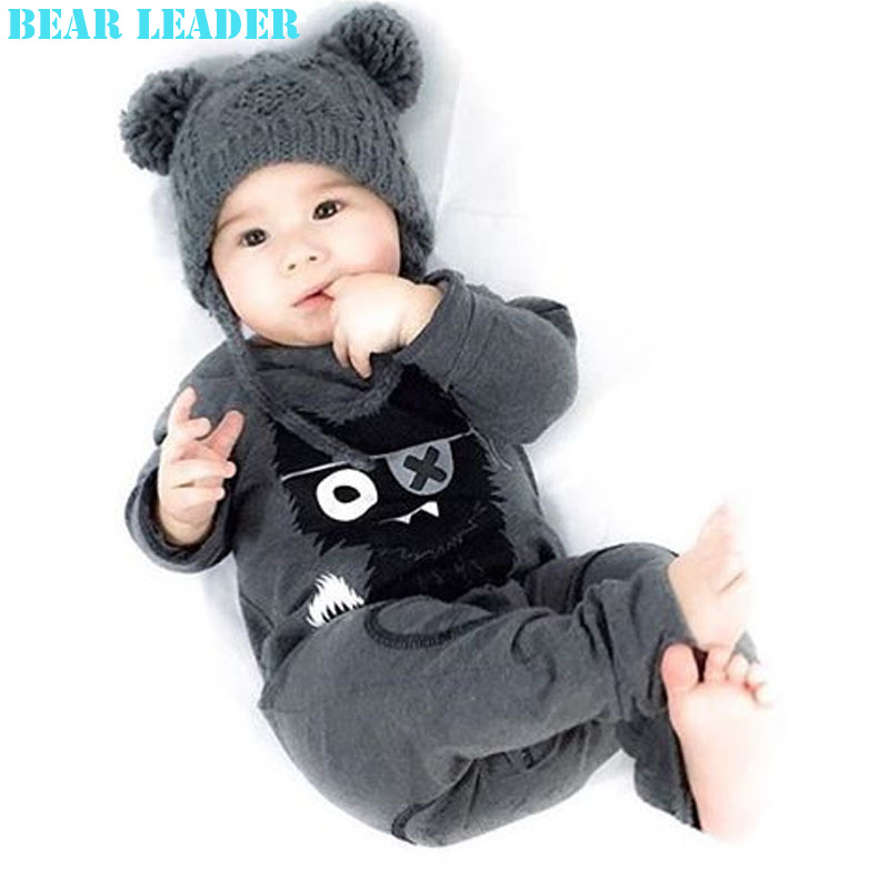 Bear Leader Spring Winter Romper For Baby Boys Clothes Long Sleeve Jumpsuits Deer Printing Cotton Infant Costume Kids Clothes