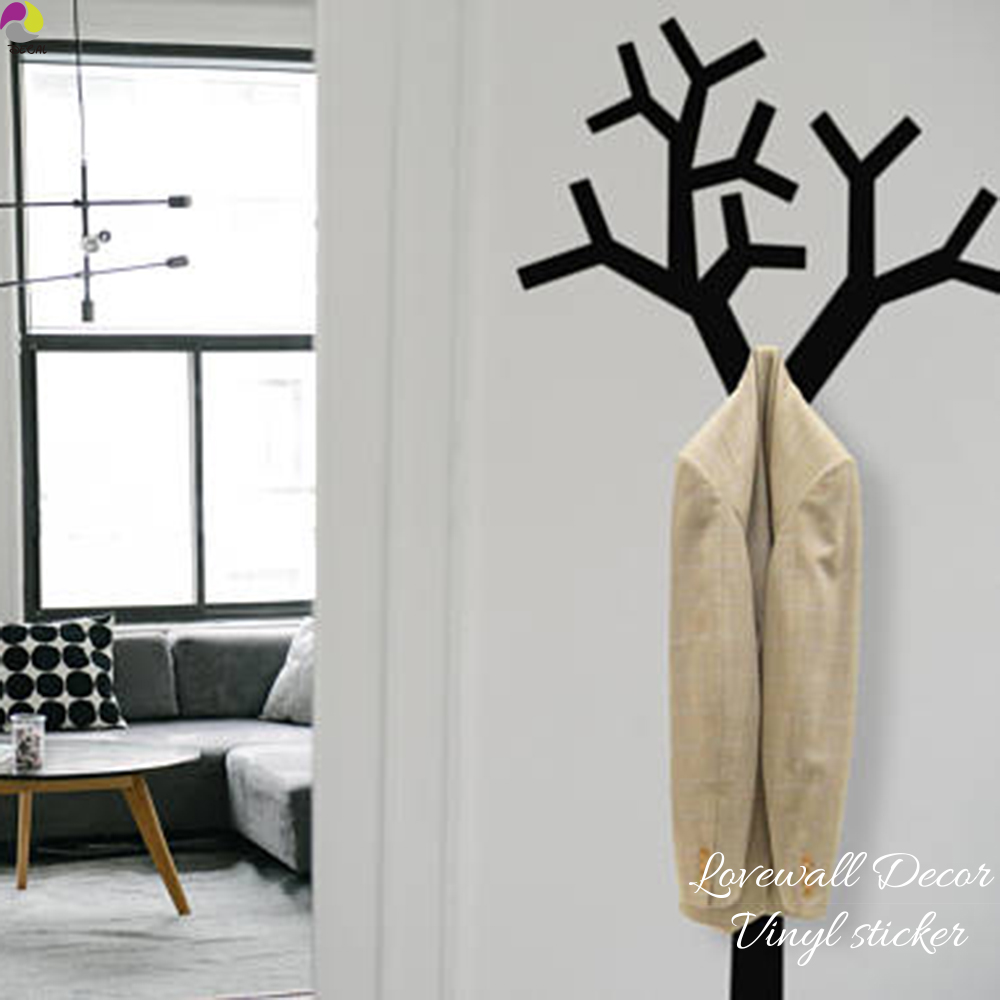 Clothes Hanger Wall Sticker Living Room