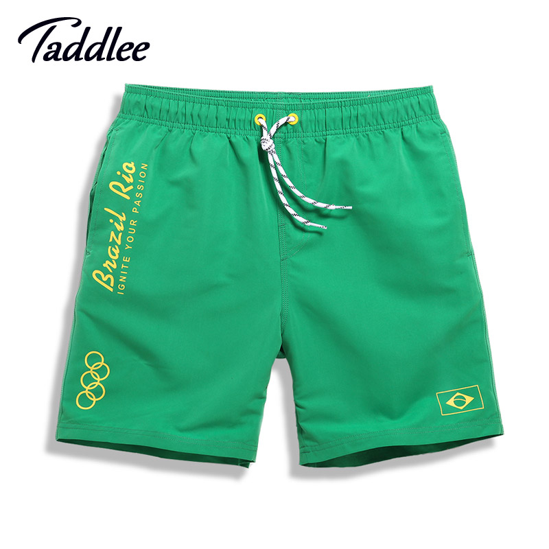 Taddlee Brand Men's   Board     Shorts   Boxers Gay Trunks Men Swimwear Swimsuits Beach Bottoms Man Quick Drying Sweatpants Big Size