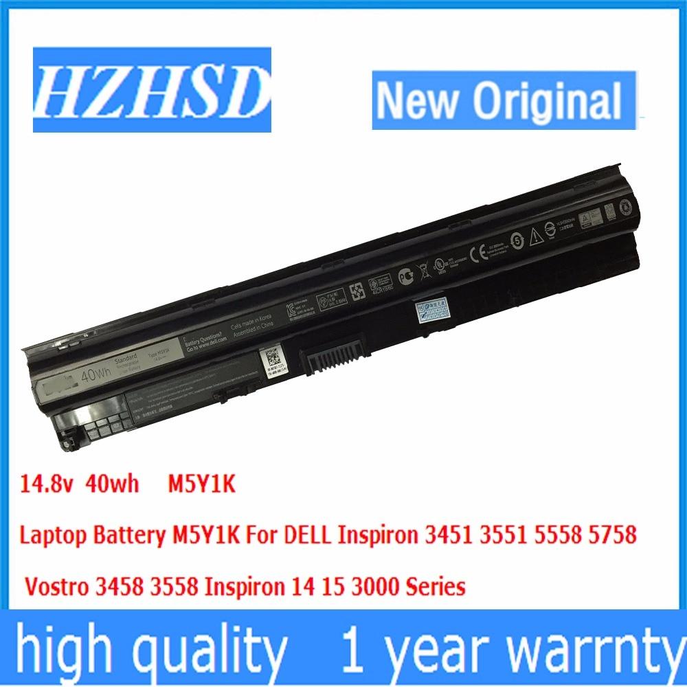 14.8v 40wh New Original M5Y1K Laptop Battery For DELL 3451 3551 5558 5758 M5Y1K Vostro 3458 3558 14 15 3000 Series