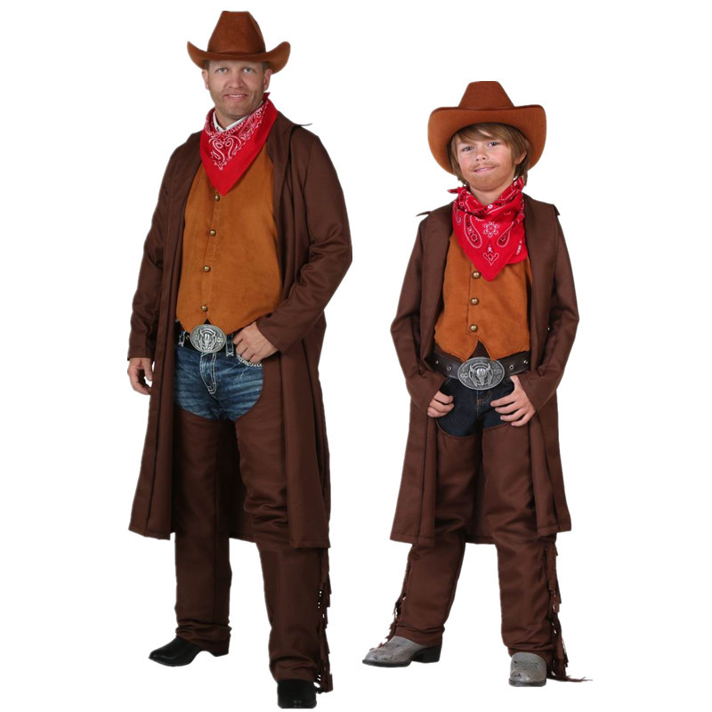 Buy Hot Cosplay Halloween Fashion Show Luxury Denim Clothing Cowboy Party