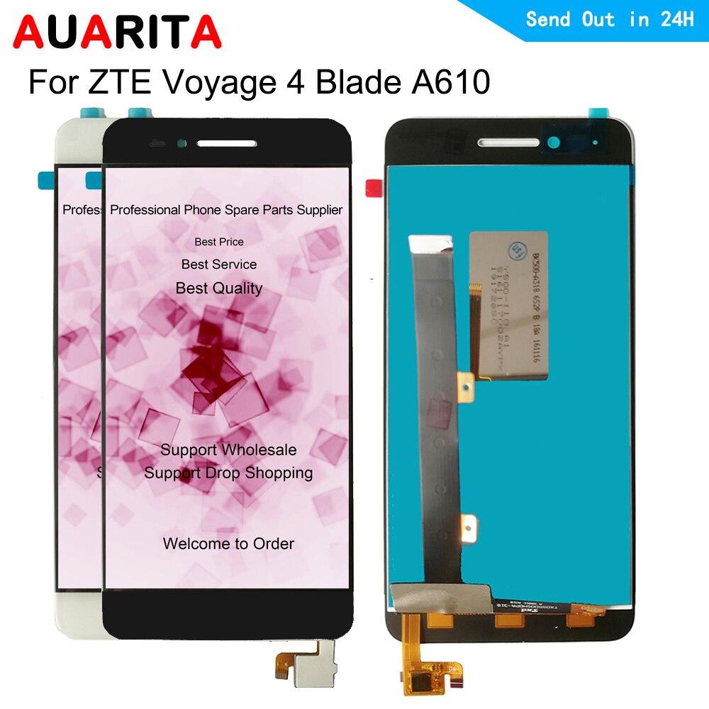 1 pcs LCD pour ZTE Voyage 4 lame A610 A610C BA610 318 241 version LCD écran tactile panneau numériseur Aassembly pièces de téléphone