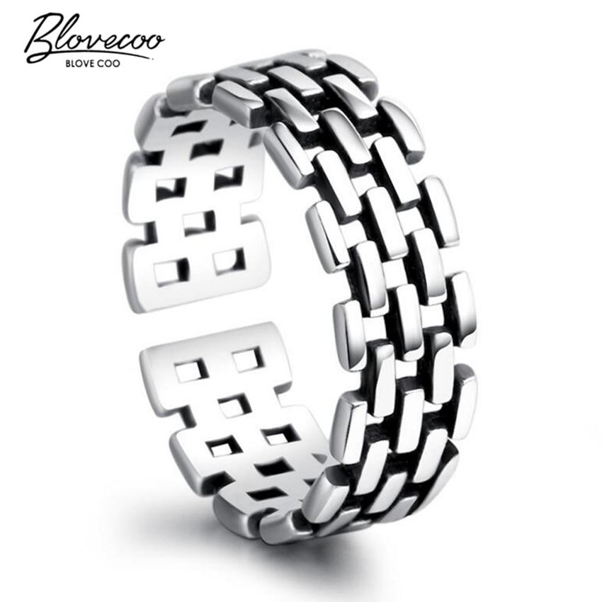 ⑦Nueva señora Fashion antiguo exquisito anillo hueco de plata retro ...