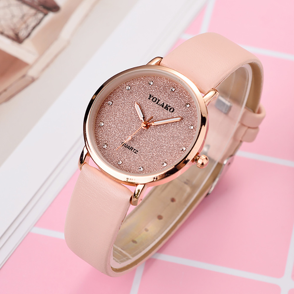 Rose Gold Top Luxury Brand Leather Watch Luxury Classic Wrist Watch Fashion Casual Simple Quartz Wristwatch Clock Women Watches olevs simple women quartz watches gold dial luxury men wristwatch women top brand leather strap male clock luminous ladies watch