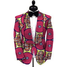 African blazers men bright colored print private custom mens suit dinner coats for wedding/party unique design dashiki clothing