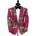 Africano impressão blazers coloridos brilhantes casacos dos homens feitos sob encomenda suit jantar privado para o casamento/festa projeto original roupas dashiki