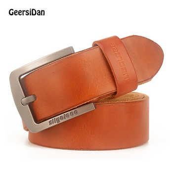 GEERSIDAN New luxury brand designer high quality genuine leather men belt vintage wide pin buckle belt for men male jeans strap - DISCOUNT ITEM  49% OFF All Category