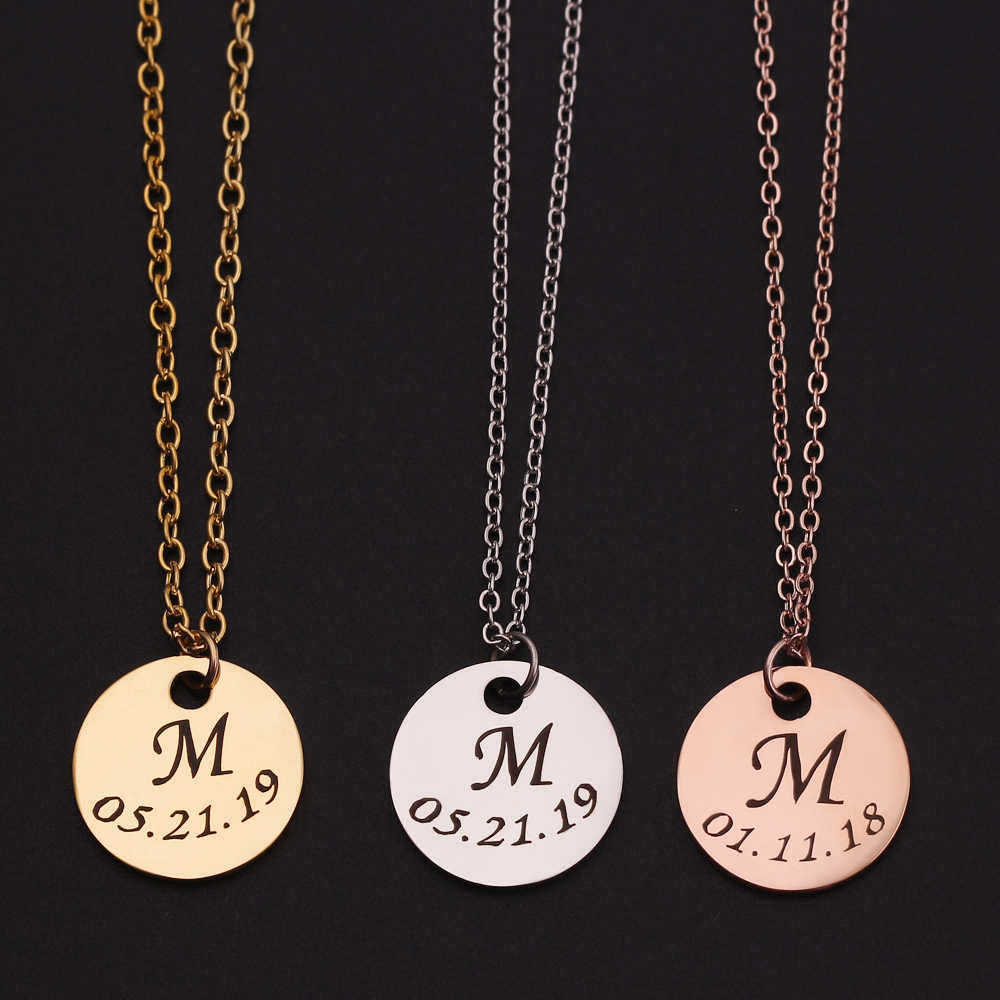 Initial Necklace Personalized Letter Necklace Name Fashion Tiny Pendant Jewelry For Women Girls Accessories Best Birthday Gifts