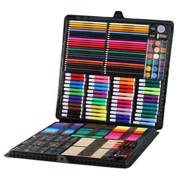 258 個セット子供の絵画セット描画ツールブラシ小学校水彩ペンアートマーカー学習用品描画玩具セット