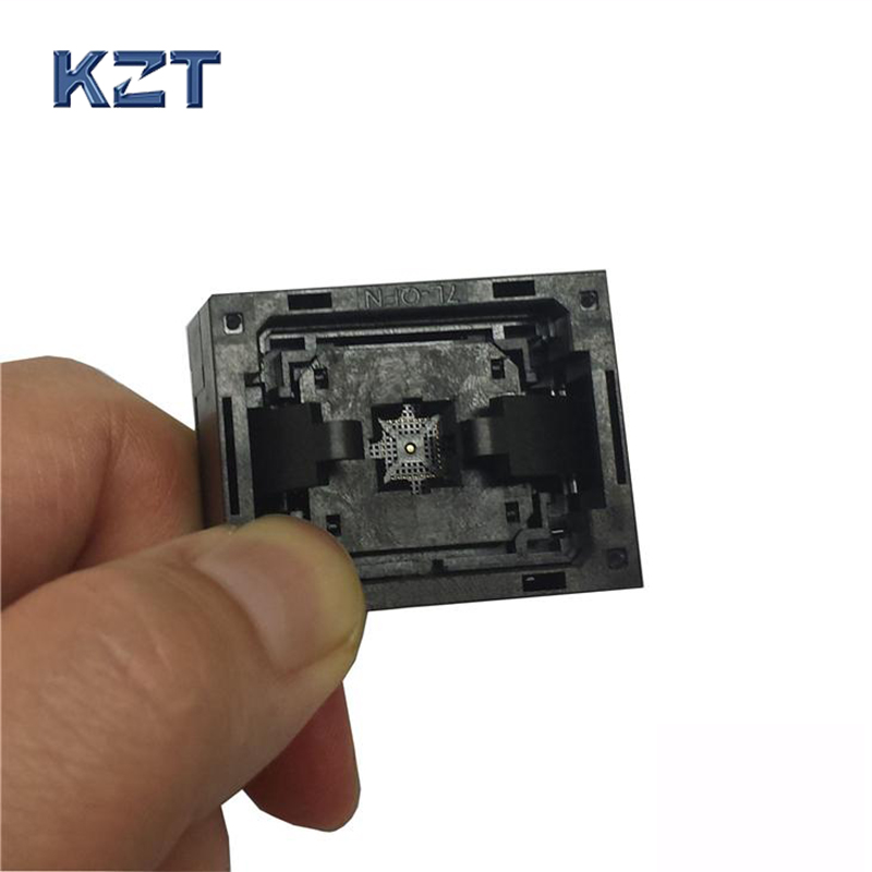 QFN32 MLF32 Programming Socket IC Test Socket Burn in Socket Opentop Chip Size 5*5 Pin Pitch 0.4 mm Flash Connector gd32f103 gd32l103 stm32f stm32l lqfp64 ic test socket programming burn block