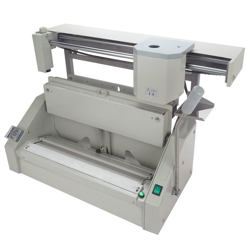High quality desktop glue binding machine DC-460A For A3  dc 460a desktop plastic packing machine