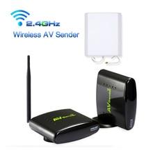HOT New 2.4GHz 500m Wireless STB AV Sender TV Audio Video Transmitter & Receiver Set for IPTV DVD With Power Adapter
