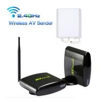 New 2.4GHz 500m Wireless Audio Video Transmitter Receiver STB AV Sender TV Set for IPTV DVD With Power Adapter