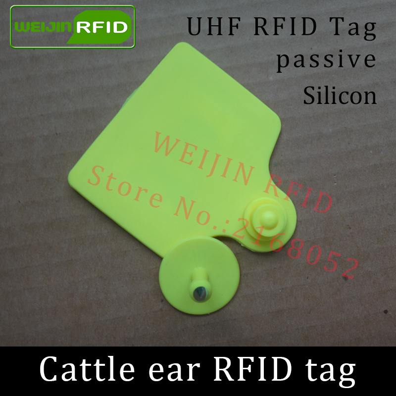 UHF rfid tag tracing electronic Animal ear tag EPC Gen2 ISO18000-6C 915m 868m 860MHz-960M alien h3 rfid cattle cow bull ear tag 500pcs rfid one off coated paper wristbands tag epc gen2 support alien h3 chip used for personnal management