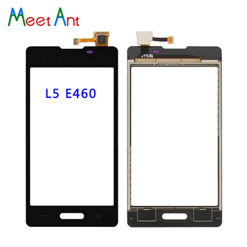 50Pcs/lot High Quality For LG Optimus L5 II E460 E450 and L5X DUAL E455 Touch Screen Digitizer Sensor Outer Glass Lens Panel