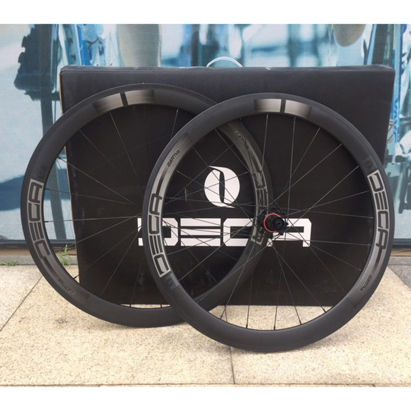JAVA Carbon Fiber 700C Road Bike Wheelset Rim Caliper Brake Bearing Hubs 20/24H 100/130mm Rim Width 50mm Racing Wheels 2017 limited promotion bike wheels full carbon fiber wheels road bike 40mm 700c rim front 20 holes rear 24 wheelset hot sale