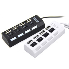 NEW High Speed USB Hub Mini 4 Ports LED USB 2.0 Hub 480 Mbps Hub USB On/Off Switch For PC Laptop Computer Peripheral Accessorie