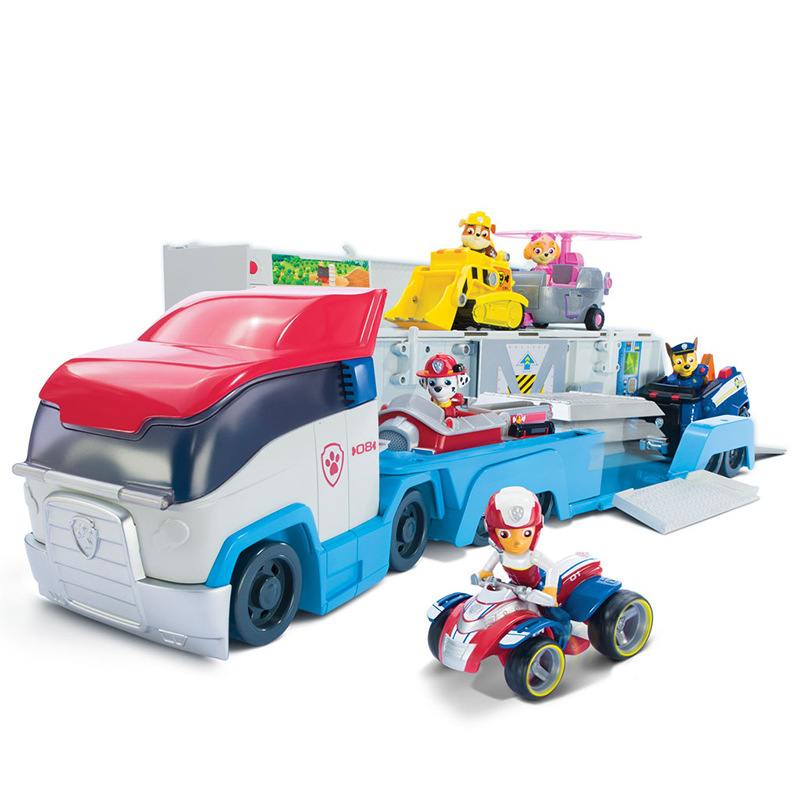 Genuine paw patrol dog bus action figure toy mobile phone rescue big puppy anime boy gift