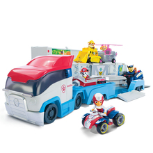 цена на Genuine paw patrol dog patrol bus action figure toy mobile phone rescue big bus puppy patrol anime paw patrol boy toy gift