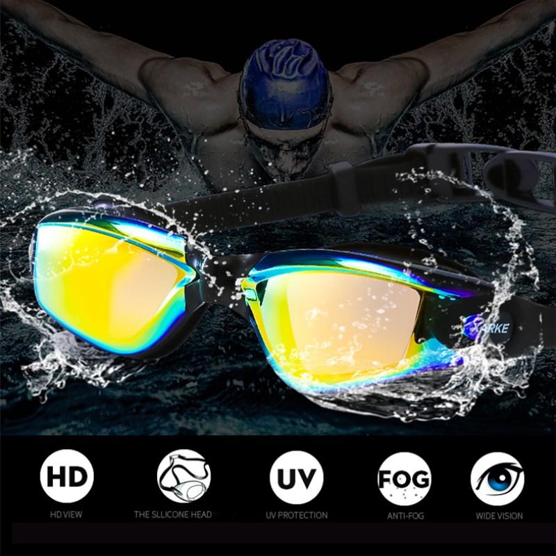 XARKE Optical Swimming Goggles Professional Swimming Glasses for Pool Myopia Swim Goggles Diopter Anti Fog Silicone Swim Eyewear