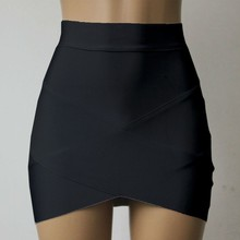 2017 New Skirt Women European and American fashion star Various colors cross bandage skirts Mini Bottom