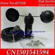 Windsnelheid sensor voltage signaal 0 5 V 4 20ma uitgang windsnelheid zender windmeter gratis verzending, aluminium 2 m kabel
