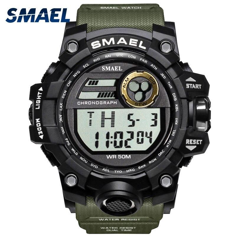 Obligatorisch Männer Uhren Sport Military Smael S Shock Uhren Hombre Casual Led Uhr Digitale Armbanduhren Wasserdichte 1545d Sport Uhr Alarm Uhren Digitale Uhren