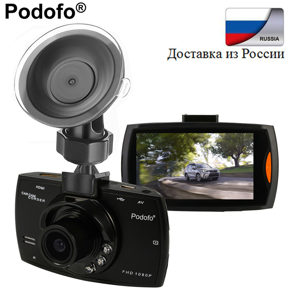 Original Podofo Car DVR Camera 2.7  G30 Full HD 1080P 170 Degree Dashcam Video Registrars Night Vision G-Sensor Dash Cam DVRs