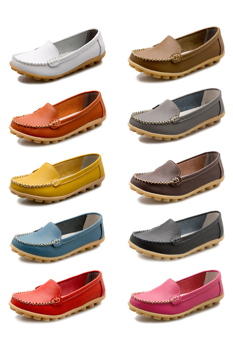 XY 918-2019 Genuine Leather Spring Autumn Women Loafers -2