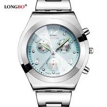 Longbo marca de fábrica famosa de cuarzo militar hombres del amante del reloj de señora impermeable moda casual cuero relojes de lujo relogio montre homme