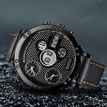 Duantai мужские часы модные большие размеры многофункциональные