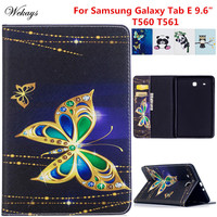 Wekays Case For Samsung Tab E 9 6 T560 Cartoon Leather Flip Funda Case For Samsung