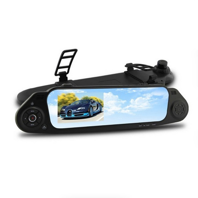 Car DVR NTK96650 5000C Car Rearview Mirror Camera Recorder DVR 4.3'TFT LCD FHD 1920x1080P 140 degree View angle with G-sensor 12