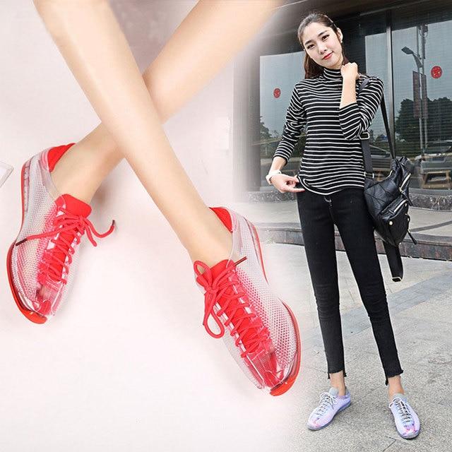 SWYIVY كريستال أحذية رياضية امرأة الخريف 2018 الإناث قوية البلاستيك هلام أحذية سيدة حذاء كاجوال أحذية رياضية الإناث
