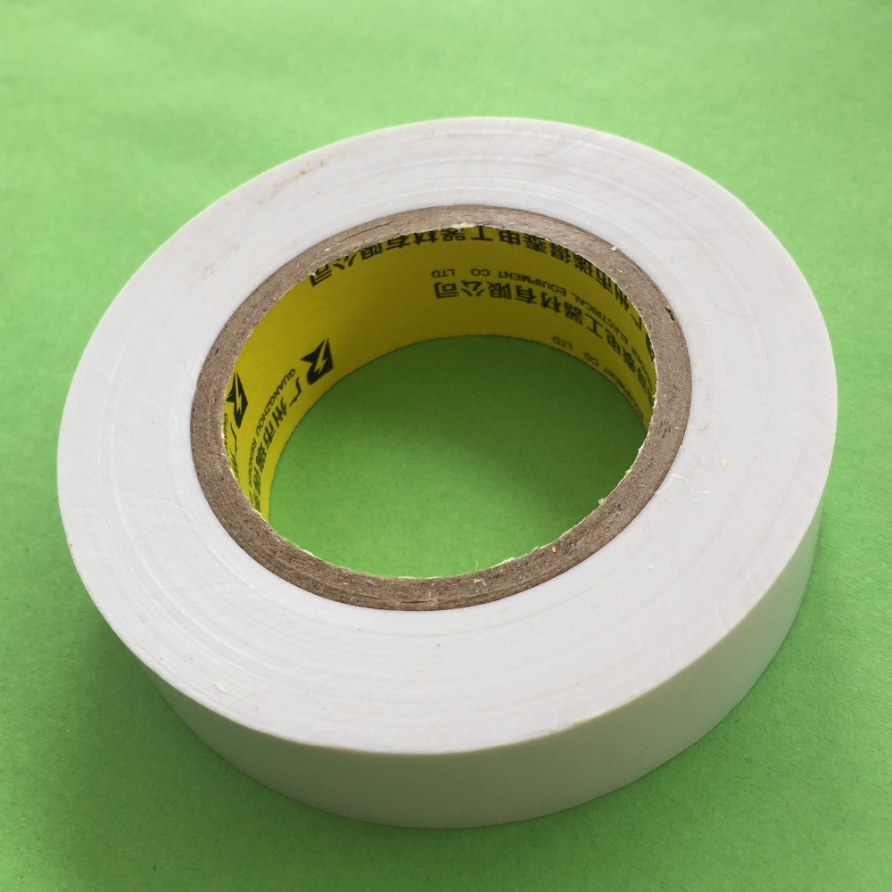 1roll DS185Y 25mx16mm White Insulating Tape PVC Electrical Tape Waterproof Tape Electrical Adhesive Tape Free Shipping Russia